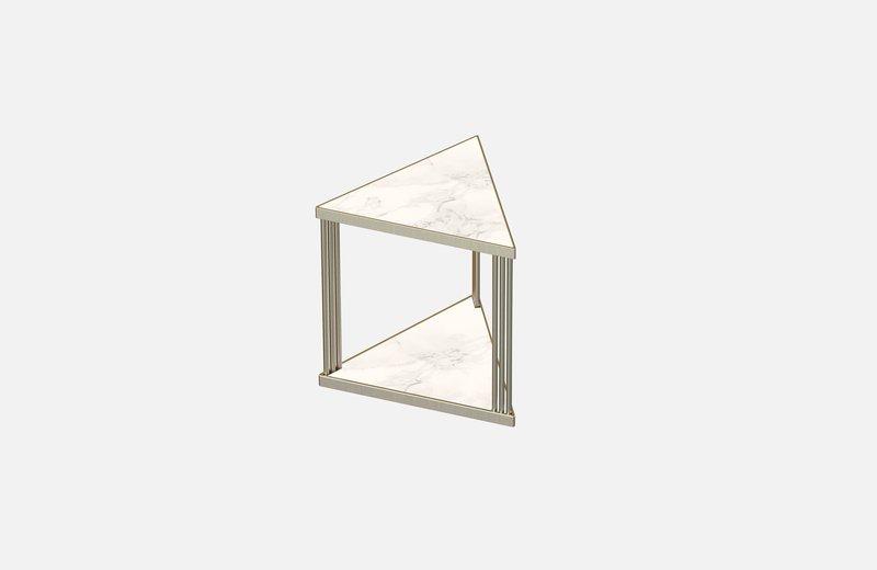 Trecento coffee table brass with white marble miist treniq 1 1549268103509