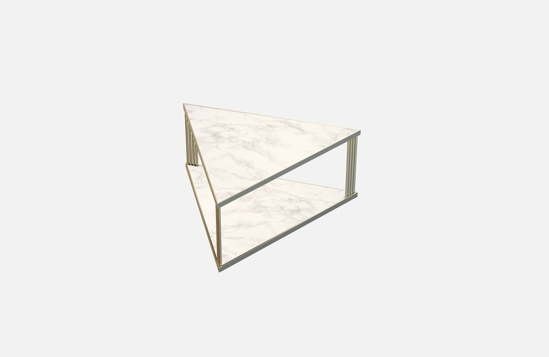 Trecento coffee table brass with white marble x large miist treniq 1 1549268581962