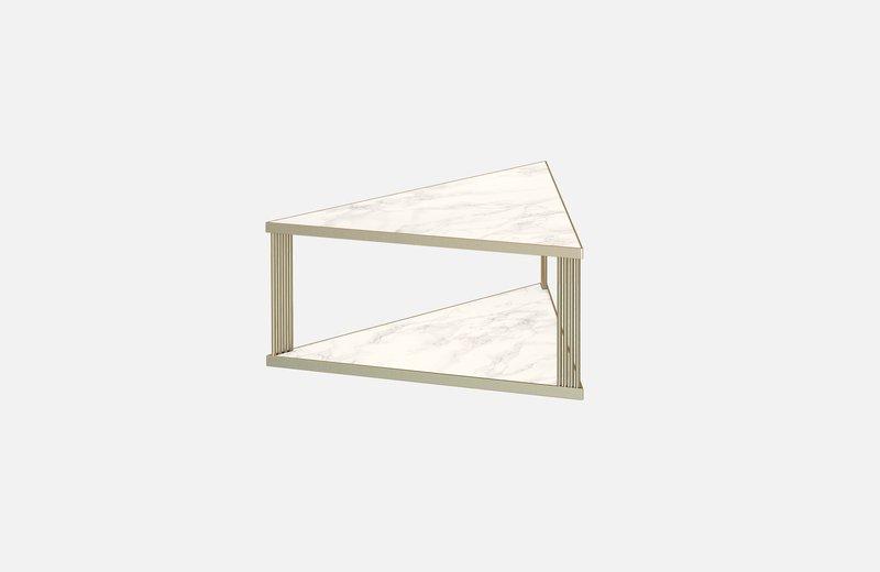 Trecento coffee table brass with white marble x large miist treniq 1 1549268581961