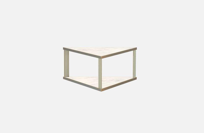 Trecento coffee table brass with white marble x large miist treniq 1 1549268581959