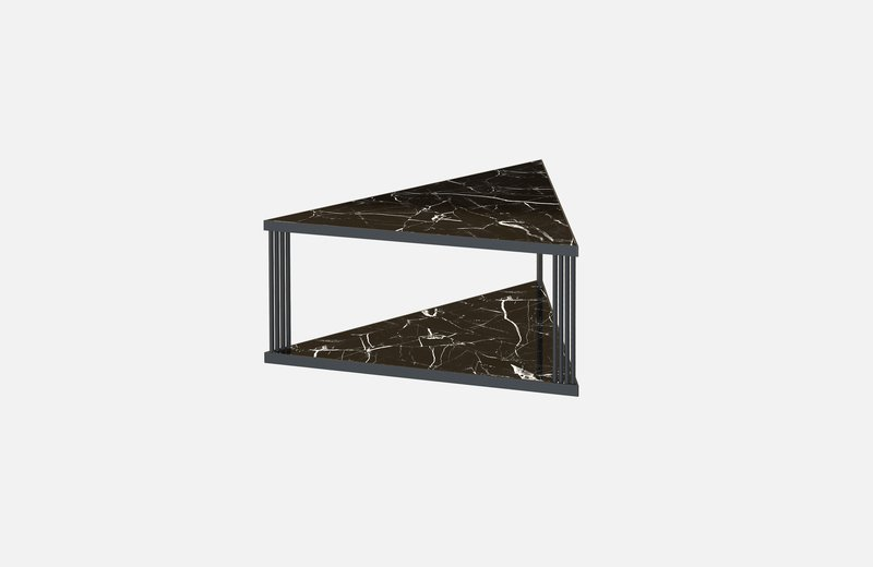 Trecento coffee table black with black marble miist treniq 1 1549268845630