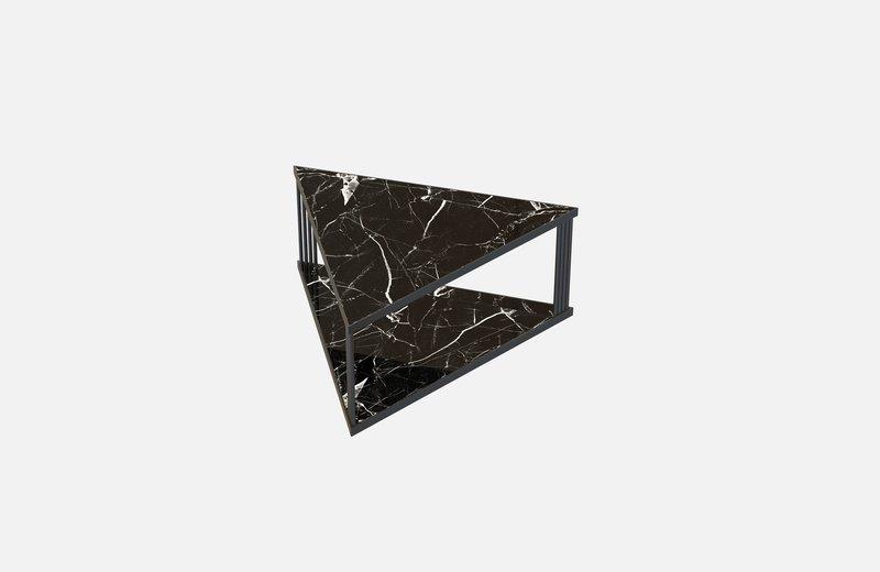 Trecento coffee table black with black marble miist treniq 1 1549268845631
