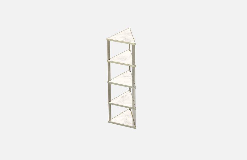 Trecento bookcase brass with white marble miist treniq 1 1549269140415