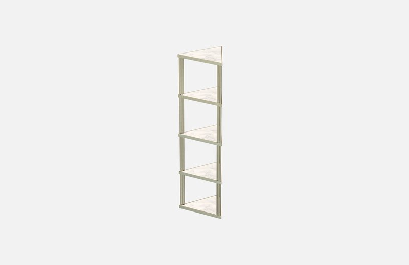 Trecento bookcase brass with white marble miist treniq 1 1549269140416