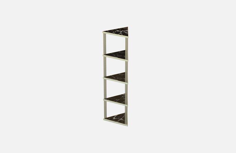 Trecento bookcase brass with black marble miist treniq 1 1549269301631