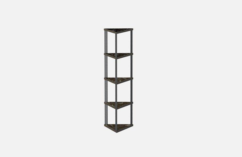Trecento bookcase black with black marlbe miist treniq 1 1549269381927