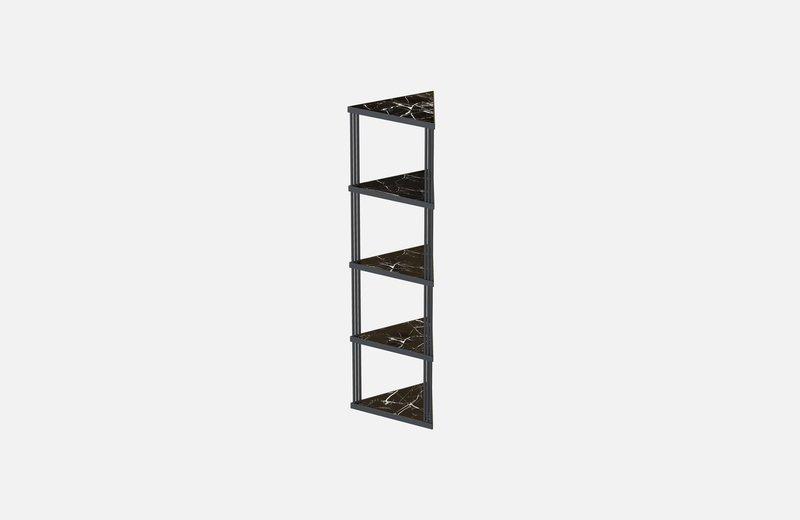 Trecento bookcase black with black marlbe miist treniq 1 1549269381929