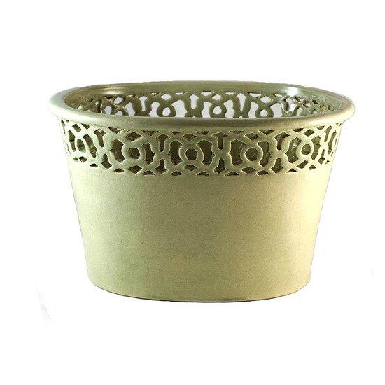 Cachepot oval vasado vd celadon 000000000472