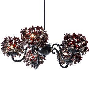 Black Jasmin Ceiling Lamp - Aya and John - Treniq