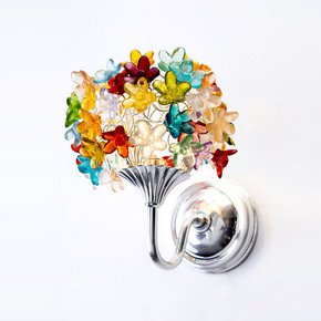 Colourful Flowers Bouquet Wall Lamp - Aya and John - Treniq
