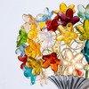 Colourful flowers bouquet wall lamp aya and john treniq 3