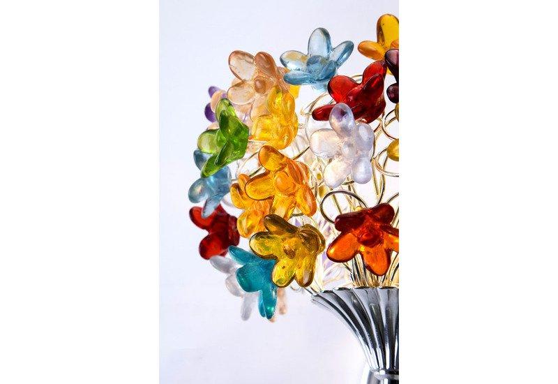 Colourful flowers bouquet wall lamp aya and john treniq 4
