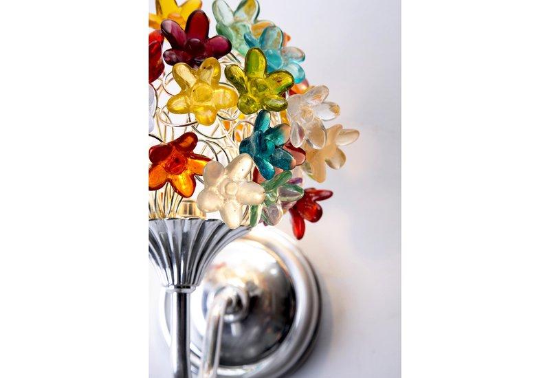 Colourful flowers bouquet wall lamp aya and john treniq 5