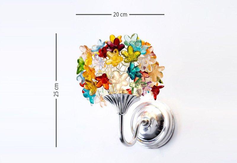 Colourful flowers bouquet wall lamp aya and john treniq 7