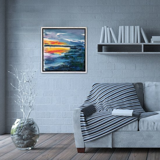 We meet where the sky touches the sea painting lanagraphic treniq 2 1549627943570