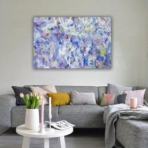Flowers-In-The-Rain-|-36-X-24-In_Alexandra-Romano-Art_Treniq_0