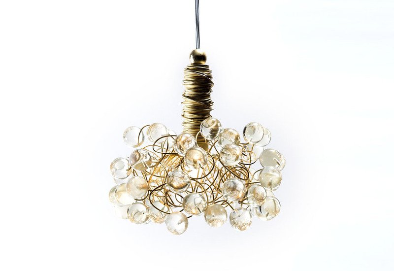 Gold and bold pendant lamp aya and john treniq 1