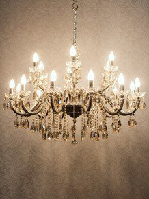 Sz Silver 18 Light Brass Crystal Chandelier