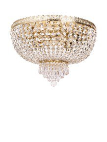 Metropolitan Crystal Golden 5 Light Flush Ceiling Light