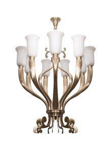 Fluted Horn Cast Brass 9 Light Chandelier