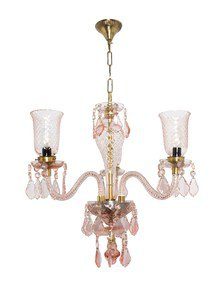Pink Bouquet 3 Light Mini Crystal Chandelier