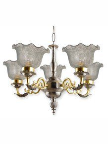 Dual Finish Brass Vine Chandelier