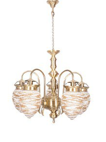 Mosaic Bead Oval 5 Light Chandelier