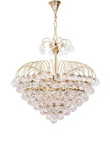 Golden Fountain Crysal Ball 6 Light Chandelier