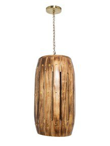 Natural Wood Dholak Pendant Lamp