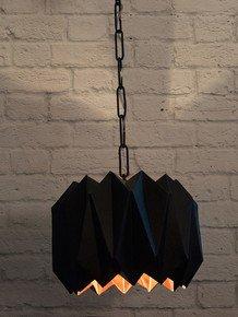 Origami Dome Black Pendant Hanging Light