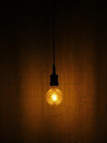 Edison Hanging With Led Raised Cut Glass Pyramid Globe E27 Bulb
