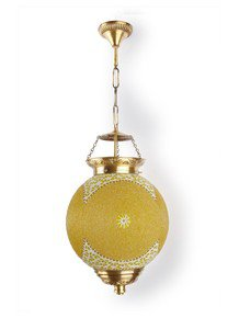 Chandni Gola Big Energy Saver Brass Hanging Light