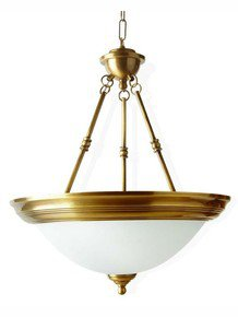 Dish Antique Brass 3 Light Hanging Light