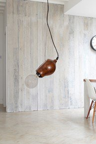 Wooden Conch Pendant Light