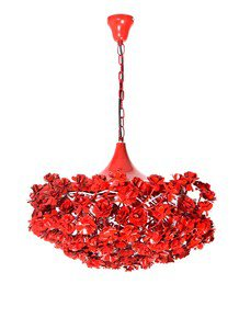 Whimsical Red Bouquet Pendant Light