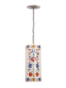 Mumtaz Marble Inlay Cylinderical Penadant Hanging