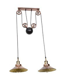 2 Light Counterweight Pulley Pendant Light