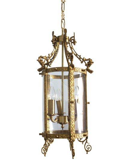 Brass lantern s carving hl3 7