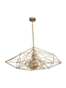 Golden Wire Web Pendant Light