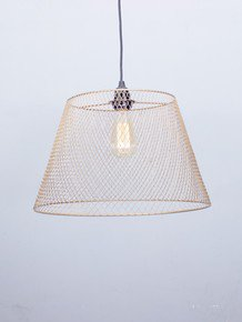 Wire Mesh Golden Tapered Pendant Light