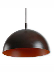 Contemporary Brown Orange Dome Pendant Light