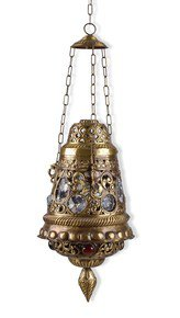 Antique Finish Moroccan Brass Hanging Light