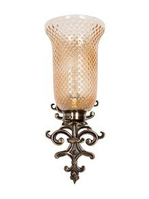 Fos Lighting Spanish Antique Finished Lustrous Wall Sconce - Small