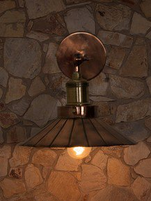 Copper Umbrella Wall Light