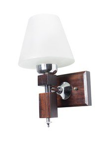 Martin Wood Tapered Glass Single Wall Light