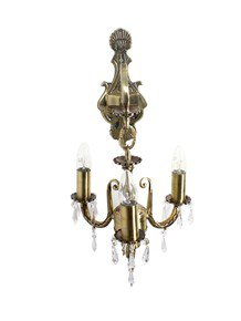 3 Light Aluminium Crystal Wall Sonce Chandelier