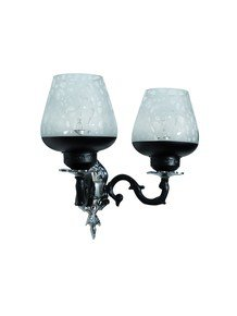 Black & Silver Gothic Double Aluminium Wall Sconce