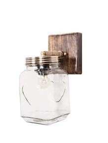 Mason Jar Wall Light - Round