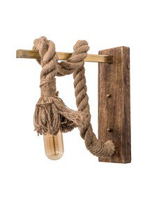 Rope Barn Wood Wall Sconce