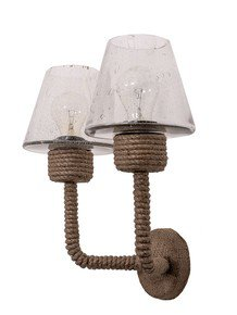 Rattan Rope Double Wall Light